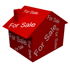 Image of a red house for sale